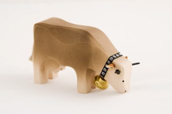 Kuh braun aus Holz