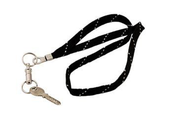 Textil Schlüsselanhänger schwarz