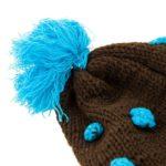 Wollmütze braun blau