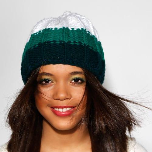 Mütze grün weiss