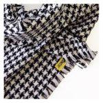 Coat Fashion oneway – pieddecoq-schwarzweiss