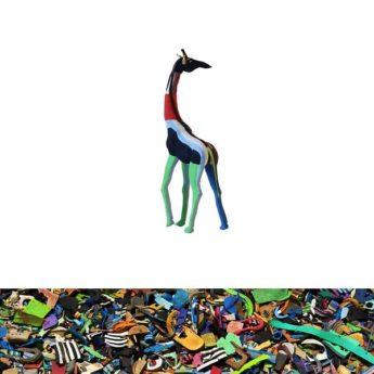 Giraffe aus recycelten Flip Flops