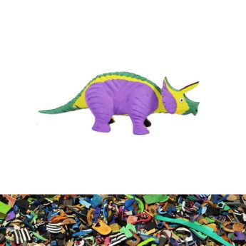 Triceratops T-Rex Warzenschwein aus recycelten Flip Flops