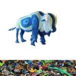 Bison aus recycelten Flip Flops