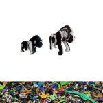 Gorilla aus recycelten Flip Flops