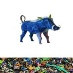 Warzenschwein aus recycelten Flip Flops