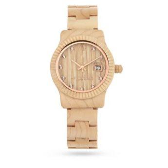 Armbanduhr aus Ahornholz