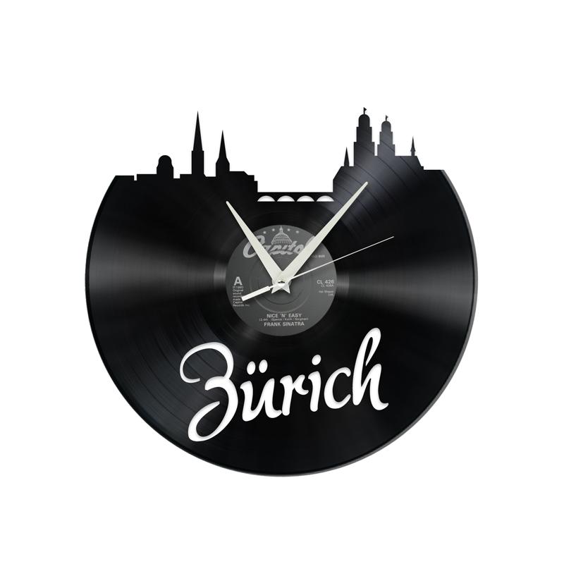 Schallplattenuhr Zürich