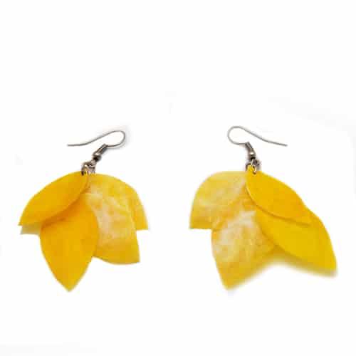 Ohrringe aus Fischschuppen