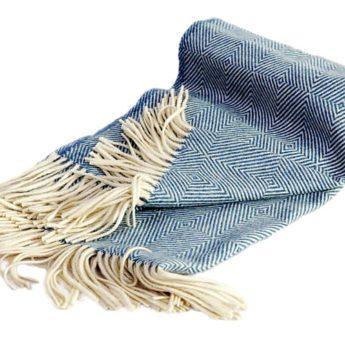 Blaue Wolldecke
