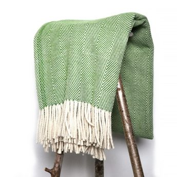 Grüne Wolldecke