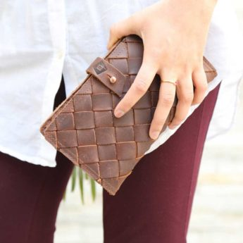 Portemonnaie aus recyceltem Leder