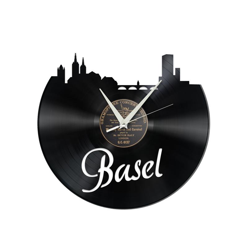 Schallplattenuhr Basel