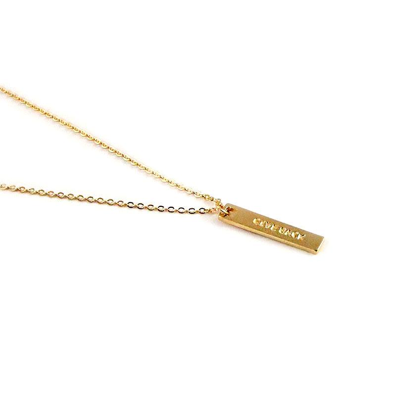 Give Back Halskette Gold