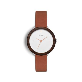 Armbanduhr aus Holz und Edelstahl