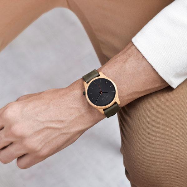 Quail Uhr aus Bambus