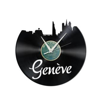 Schallplattenuhr Genf