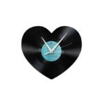 Schallplattenuhr Herz