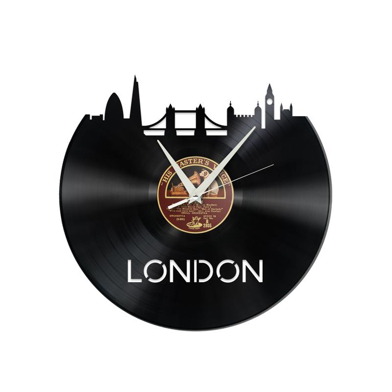 Schallplattenuhr London