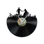 Schallplattenuhr Paar