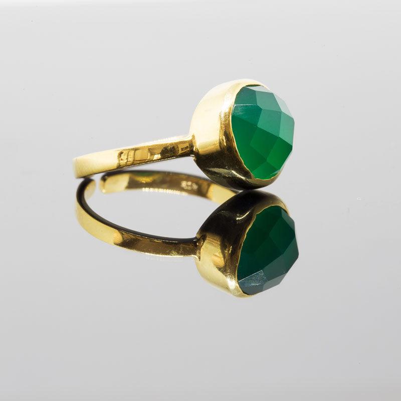Fingerring Onyx Grün